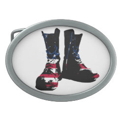 USA Combat Boots Oval Belt Buckles
