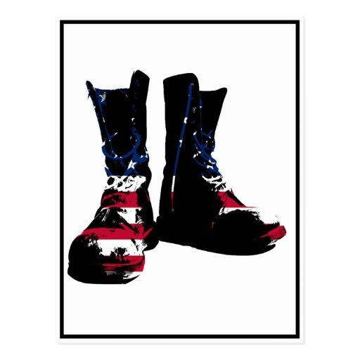 USA Combat Boots Postcard