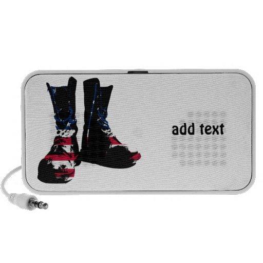 USA Combat Boots Speakers