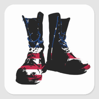 USA Combat Boots Square Sticker