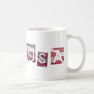 USA Constitution and Flag Classic White Coffee Mug