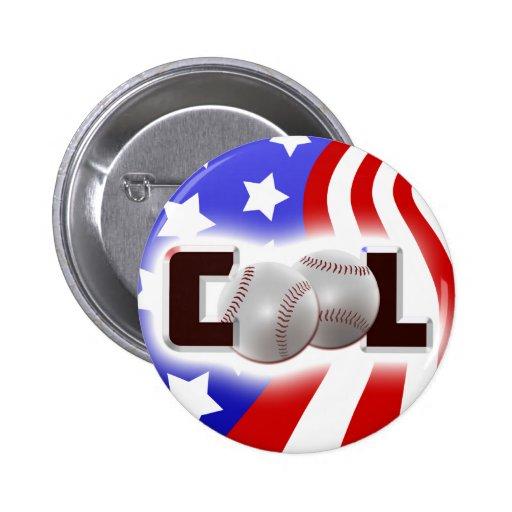 USA Cool Baseball Shine Pins