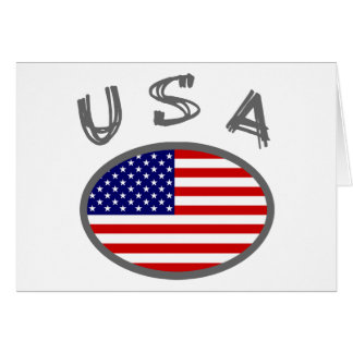 USA Cool Flag Design! Card