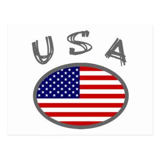 USA Cool Flag Design! Postcard