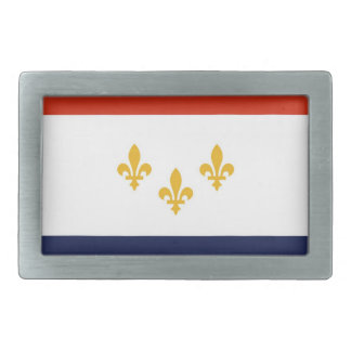 usa country city town new orleans flag rectangular belt buckle