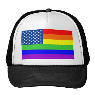 usa country gay proud flag homosexual trucker hat