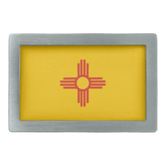 usa country state new mexico flag rectangular belt buckle