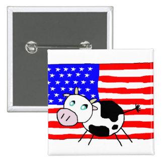 USA Cow Button