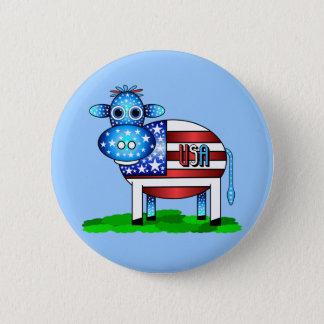 USA cow Pinback Button