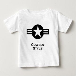 USA Cowboy Style black Baby T-Shirt