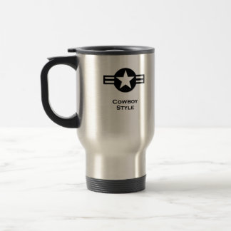 USA Cowboy Style black Travel Mug