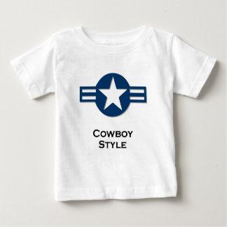 USA Cowboy Style blue Baby T-Shirt