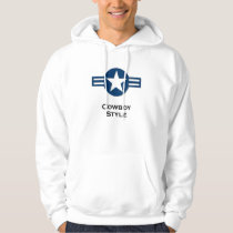 USA Cowboy Style blue Hoodie