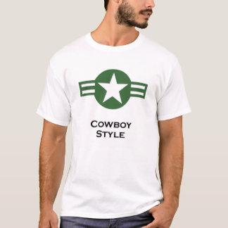 USA Cowboy Style Green T-Shirt