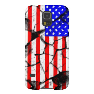 USA cracked flag Case For Galaxy S5