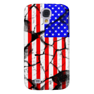 USA cracked flag Samsung Galaxy S4 Cover