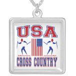 USA Cross Country Skiing Pendants