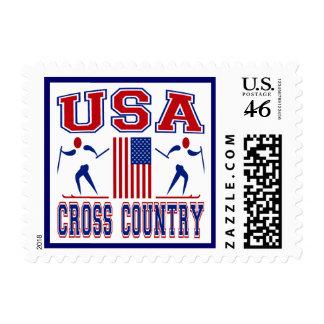 USA Cross Country Skiing Postage