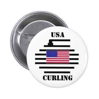 USA Curling 2010 Pinback Button