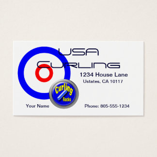 USA Curling Business Card