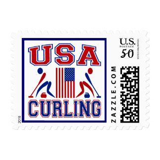 USA Curling Postage
