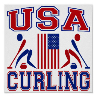 USA Curling Poster