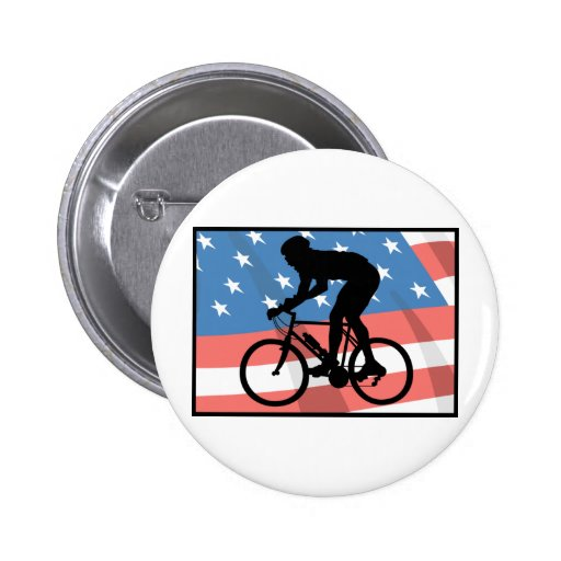 USA Cycling 2 Inch Round Button