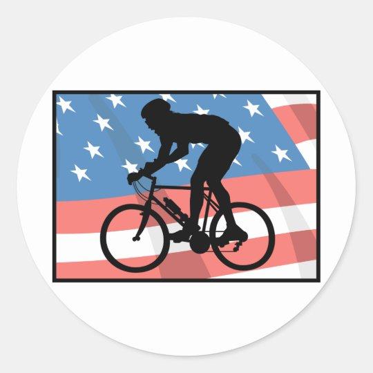 USA Cycling Classic Round Sticker