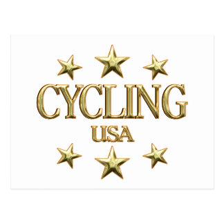 USA Cycling Postcard