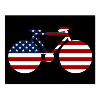 USA cycling Postcard
