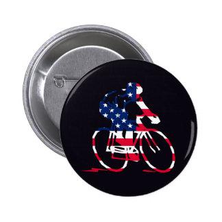 USA Cyclist Pinback Buttons
