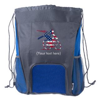 USA Cyclist Drawstring Backpack