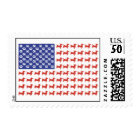 USA Dachshund American Flag Postage