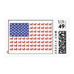 USA Dachshund American Flag Postage Stamps