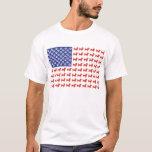USA Dachshund American Flag T-Shirt