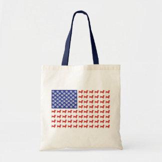 USA Dachshund Tote Bag