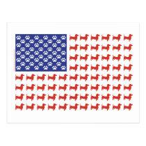 USA Dachshund Postcard