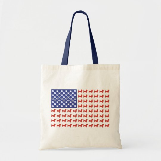 USA Dachshund Tote Bag