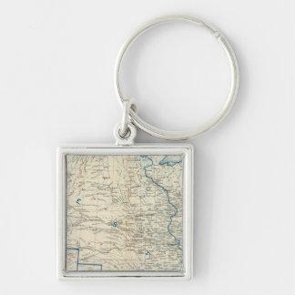 USA Dec 1860 Silver-Colored Square Keychain