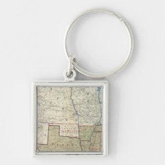 USA Dec 1861 Silver-Colored Square Keychain
