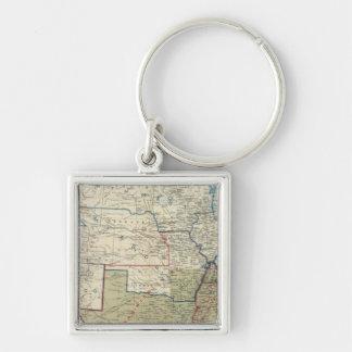 USA Dec 1863 Silver-Colored Square Keychain