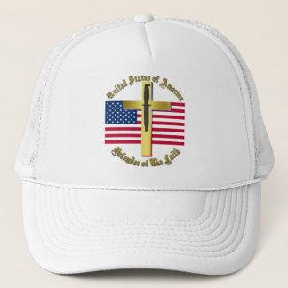 USA: Defender of The Faith Trucker Hat