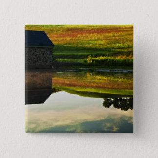 USA, Delaware, Wilmington. Stone barn on edge Pinback Button