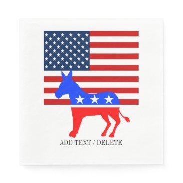 USA Themed USA Democrat Napkins