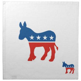 usa democrat party donkey united states america printed napkin
