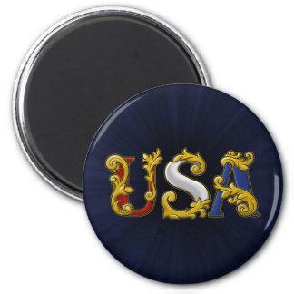USA Design 2 Inch Round Magnet