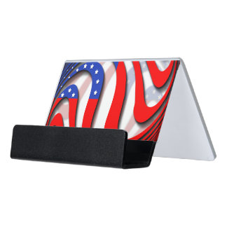 USA DESK BUSINESS CARD HOLDER