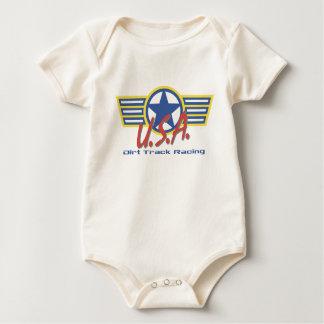 USA Dirt Track Racing Baby Bodysuit