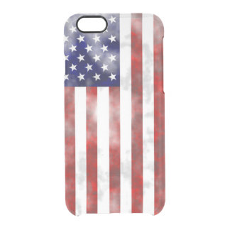 Usa discolored flag clear iPhone 6/6S case