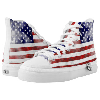 Usa discolored flag printed shoes